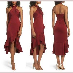 NWD $605 SHOSHANNA Boswell High/Low Halter Dress 2
